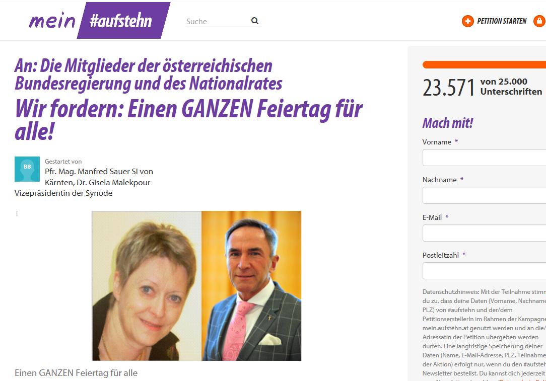 Online Petition Fordert Ganzen Feiertag Für Alle Evangelische